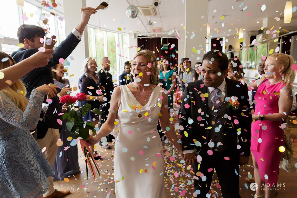 Camden Town wedding confetti shower