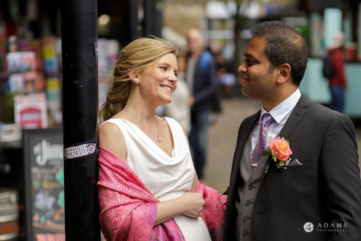 Camden Town wedding couple portrait