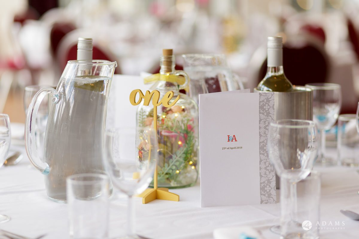 Camden Town wedding table details