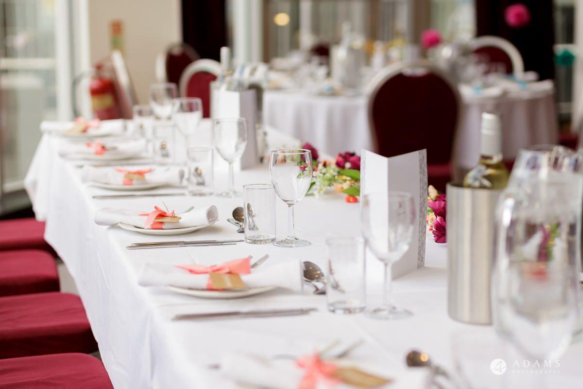 Camden Town wedding top table decoration