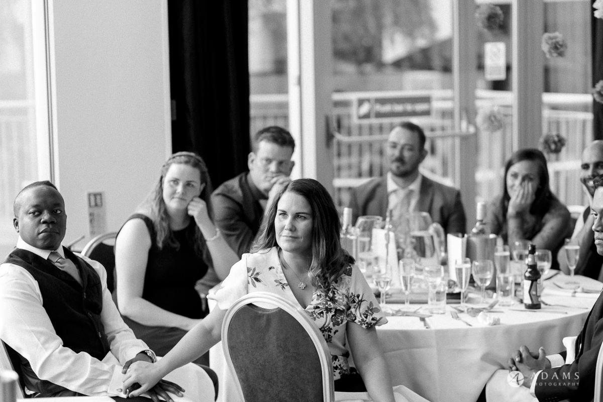 Camden Town wedding guests listen to the speech