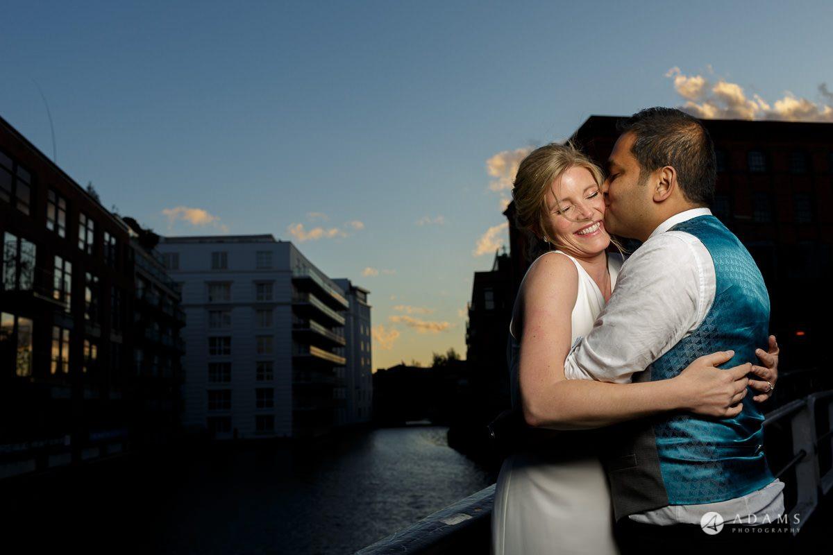 Camden Town wedding blue hour photo shot