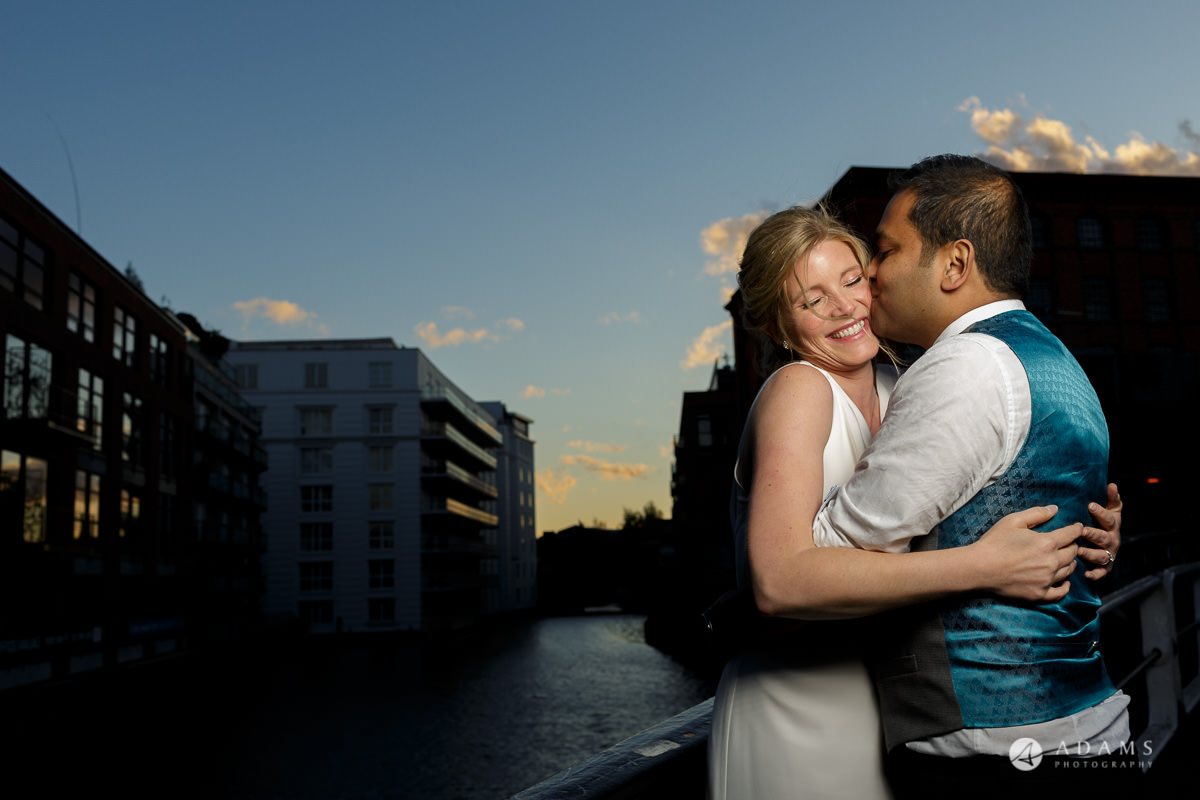Camden Town wedding blue hour photo shot