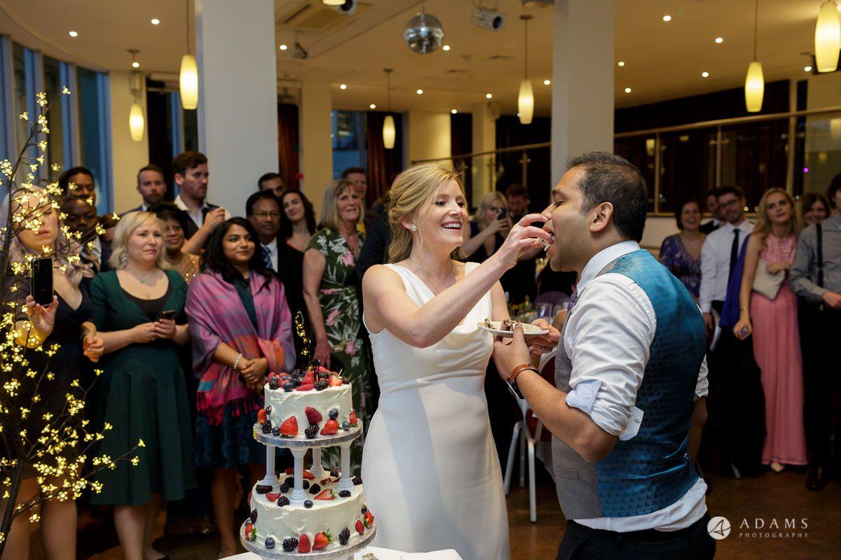 Camden Town wedding cake catting