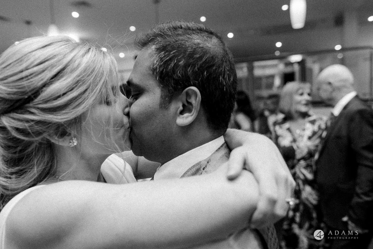 Camden Town wedding couple kissing