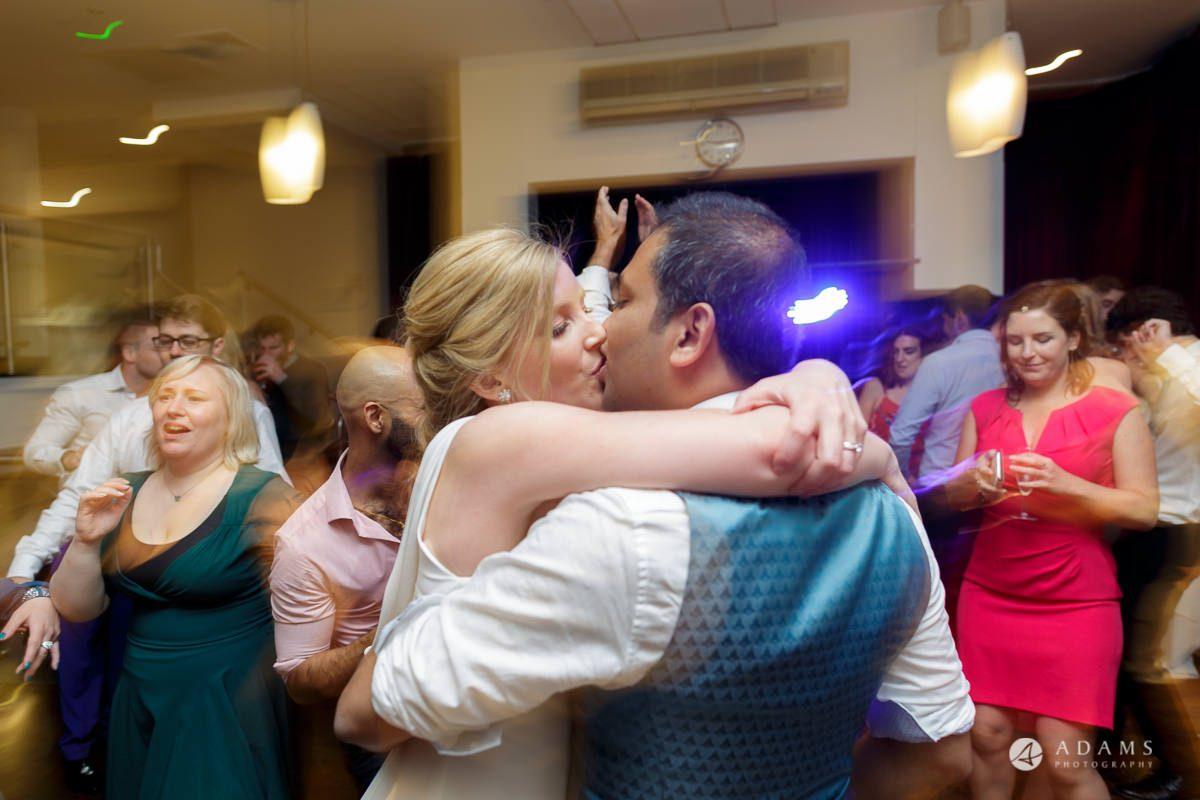 Camden Town wedding couple big kiss