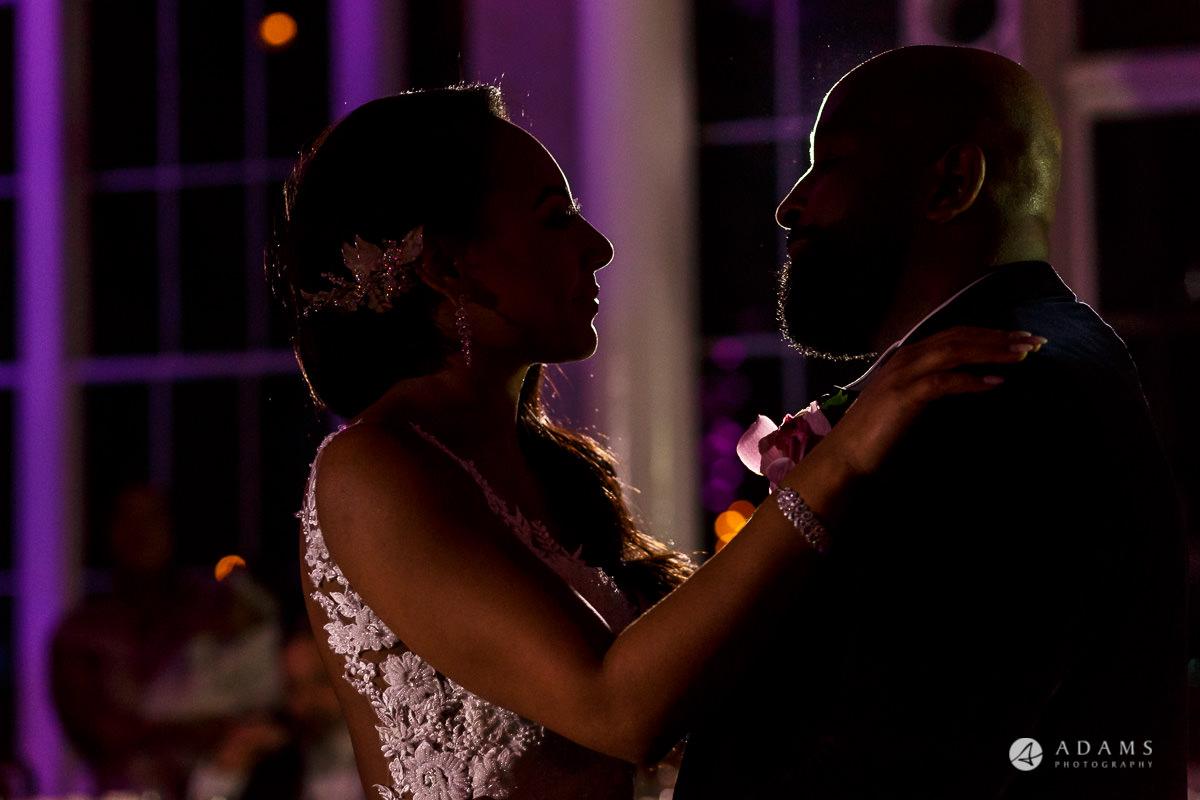 syon park house wedding first dance portrait