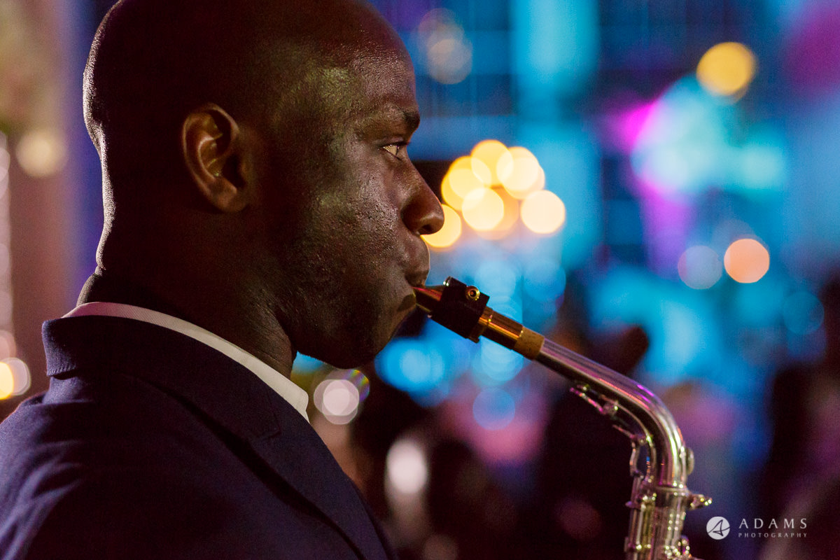 syon park house wedding saxophone playing