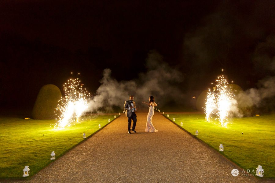 Nigerian weddng syon park house wedding fireworks