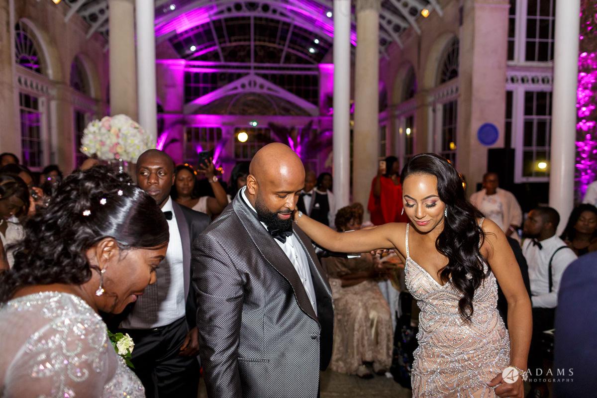 syon park house wedding couple dancing