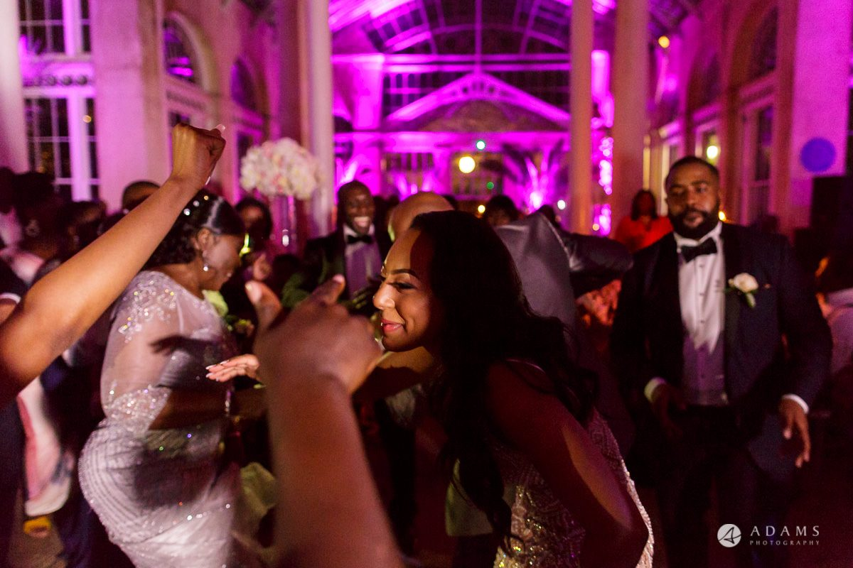 syon park house wedding bride dancing