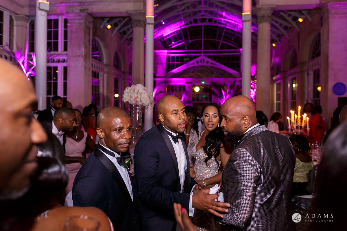 syon park house wedding guests dance and have fun