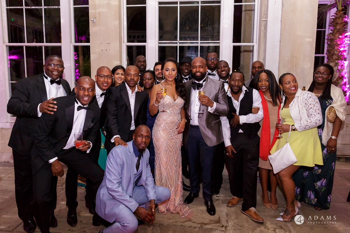 syon park house wedding guests group shots