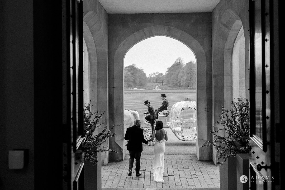 syon park house wedding the couple walks off the venue