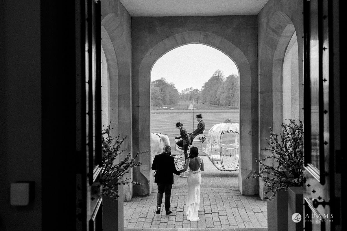 syon park house wedding the couple walks off the venue