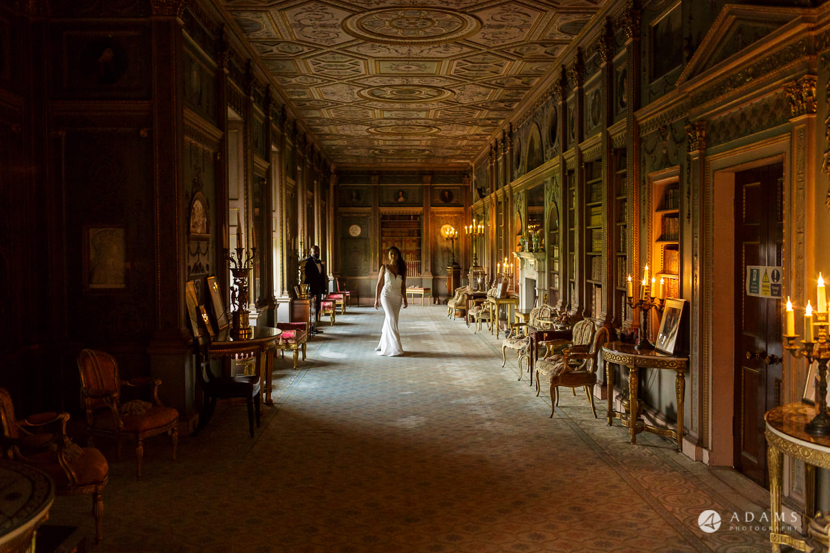 syon park house wedding photographer the couple walks in the walking room