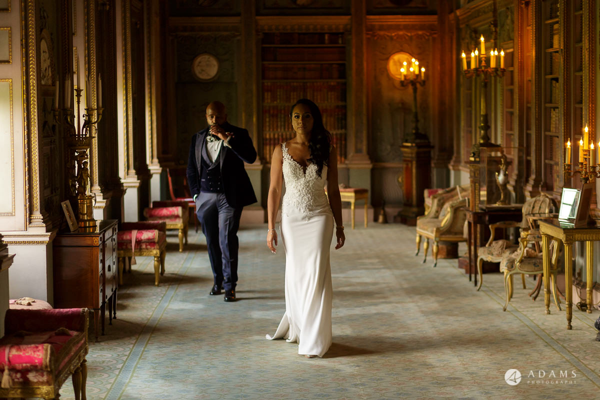 syon park house wedding photographer portrait session in the walking room
