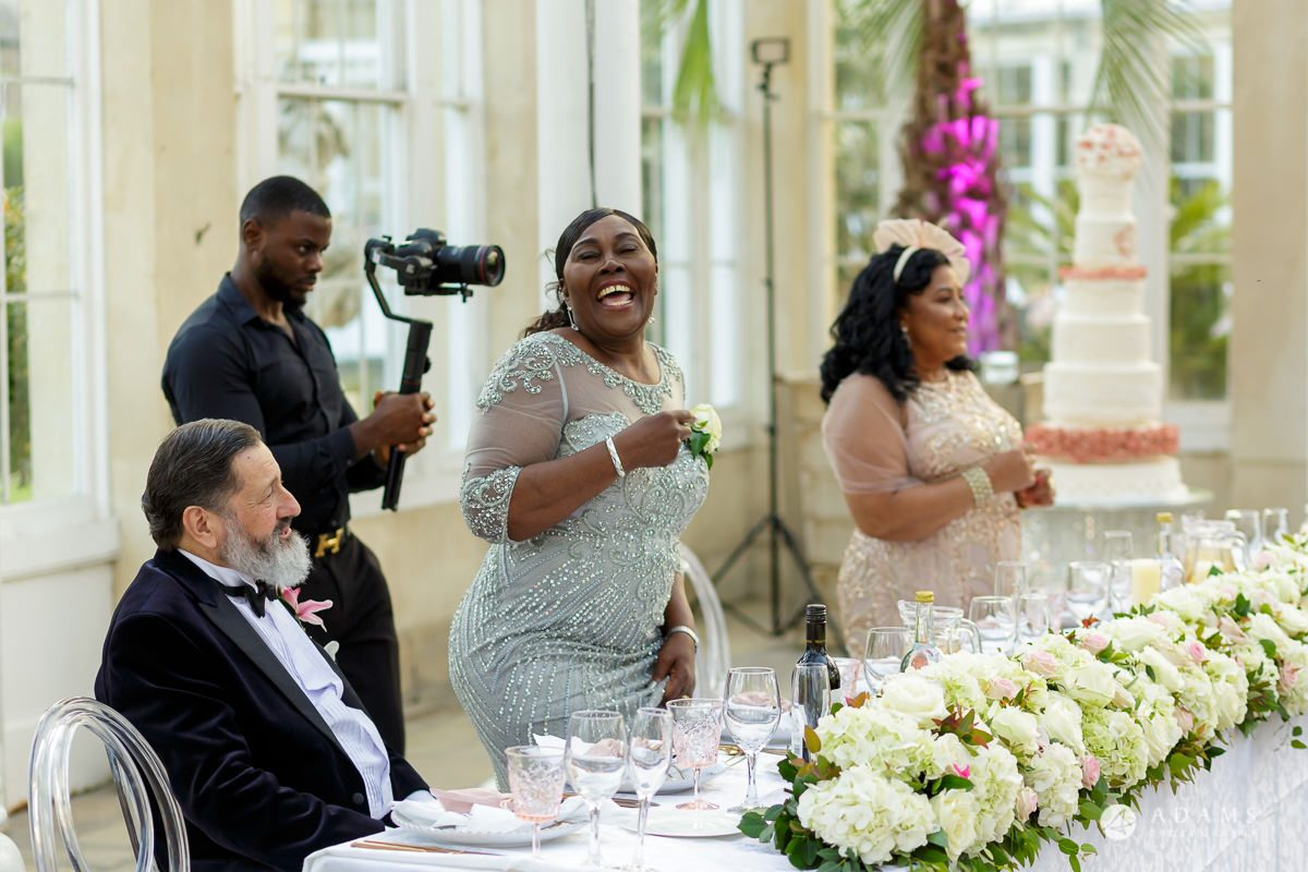 syon park house wedding mothers dancing