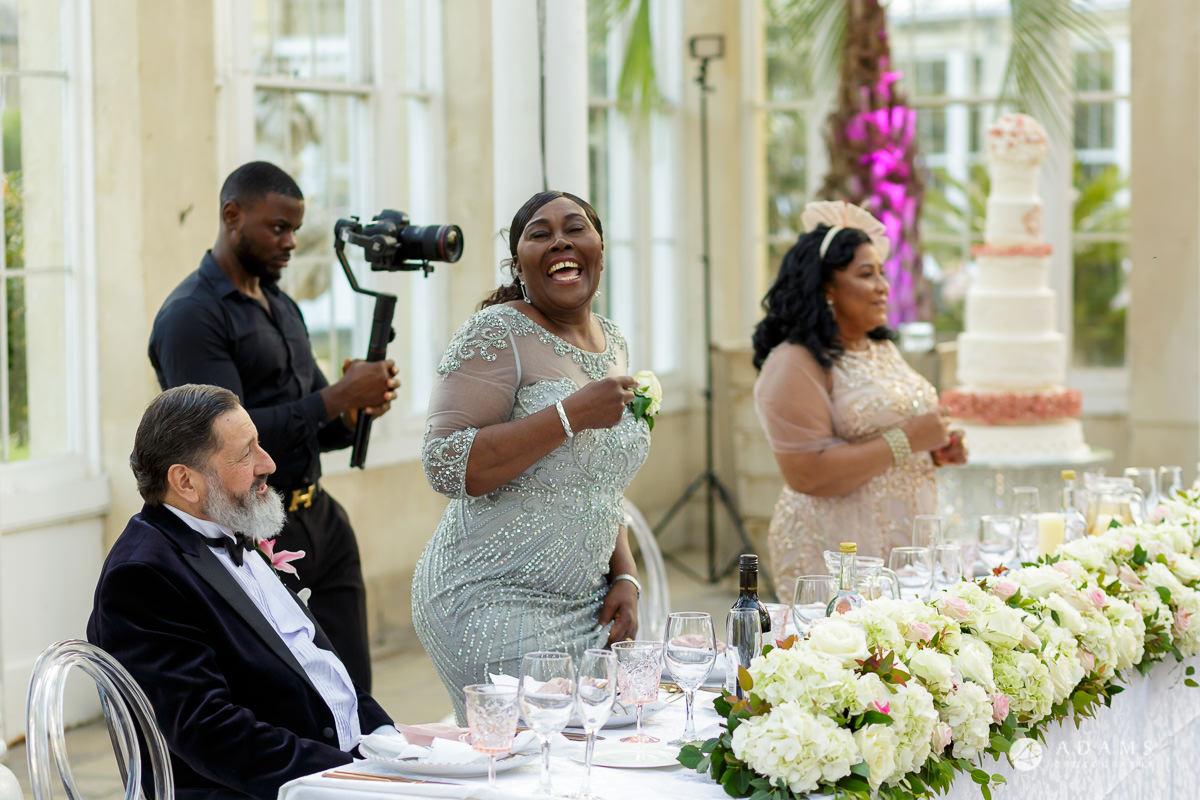 syon park house wedding mothers dancing
