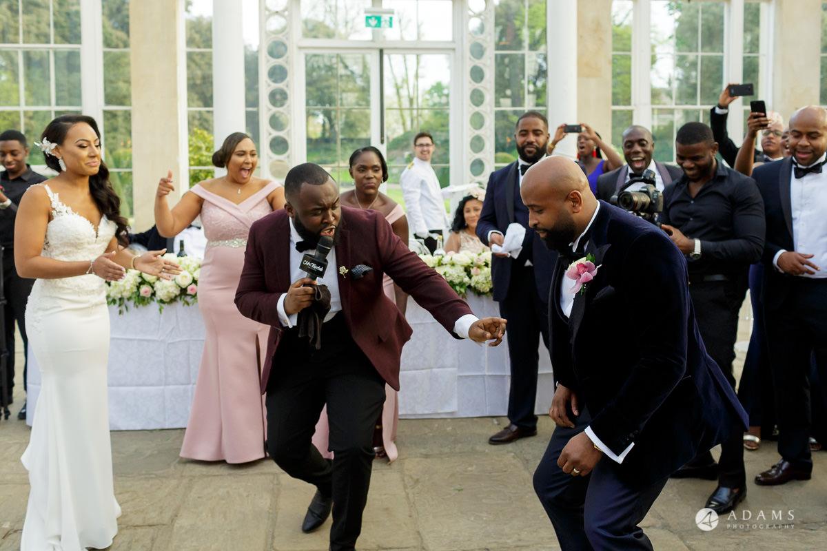 syon park wedding photographer grooms dance