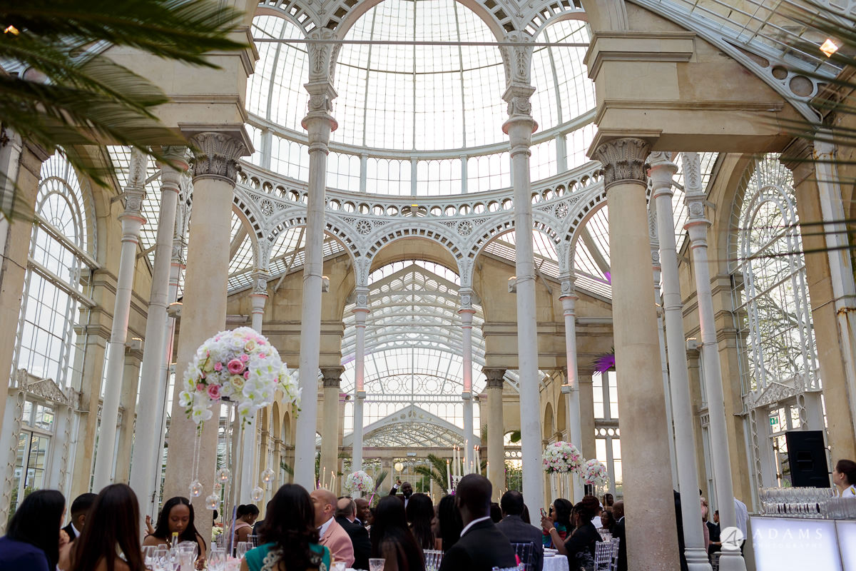 syon park photographer house wedding view of the conservatory