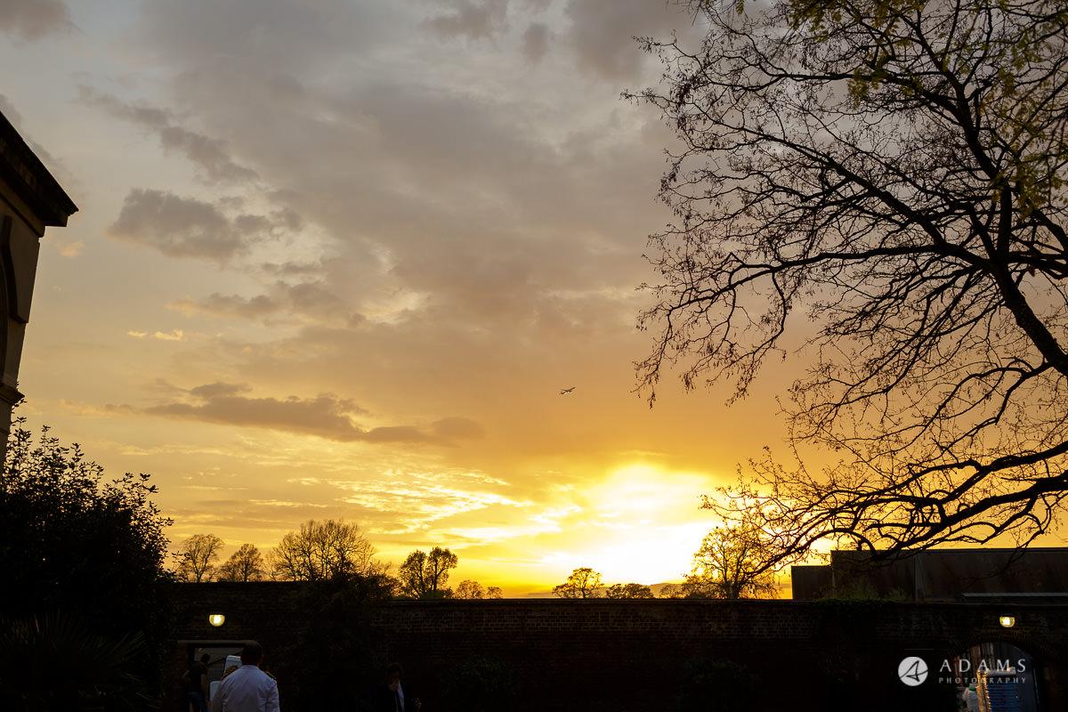 syon park house wedding sunset