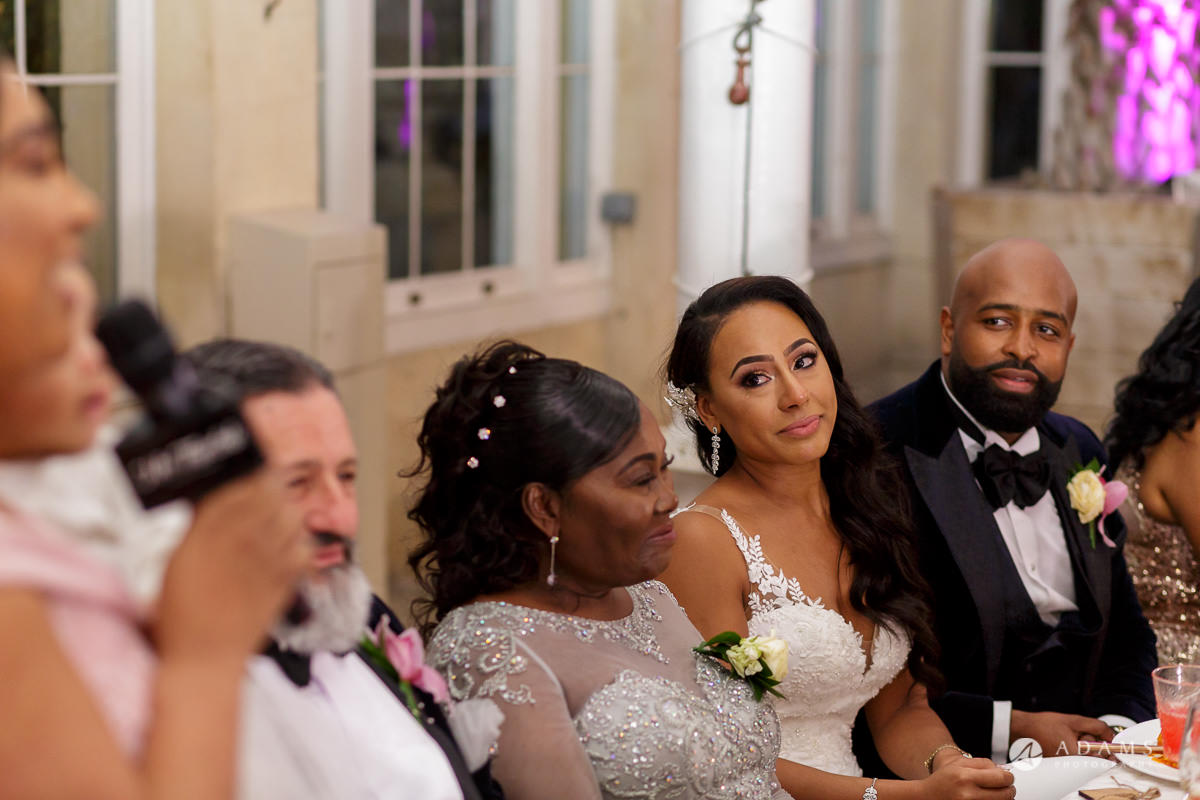 syon park house wedding bride is getting emotional