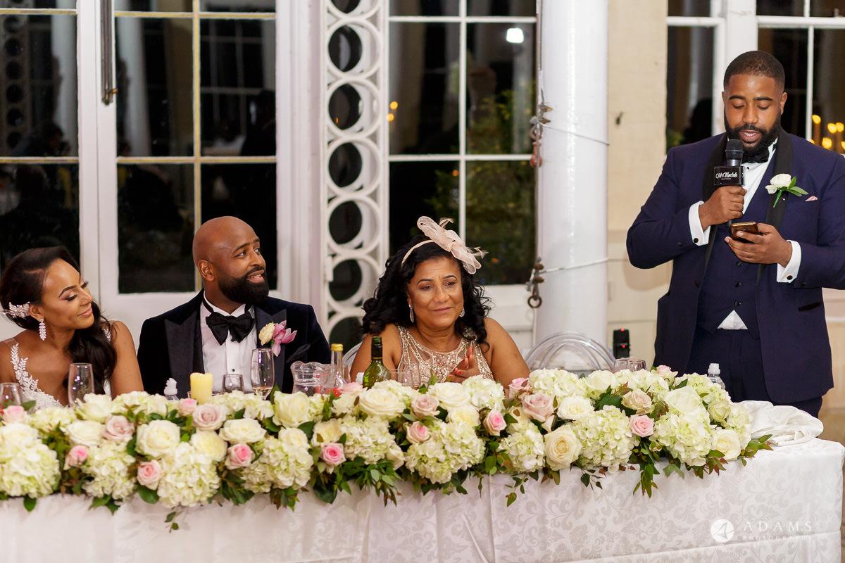 syon park house wedding brothers speech