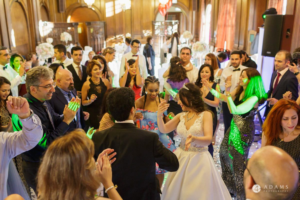 pinewood studios wedding photography guests are dancing