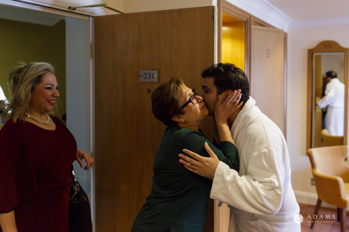 pinewood studios wedding other of the groom kissing her son