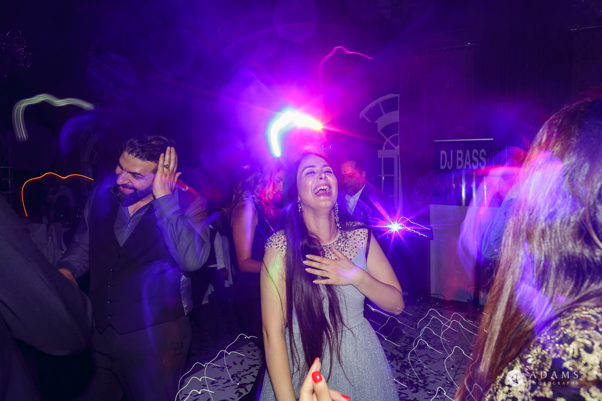 pinewood studios wedding guests are having a ball