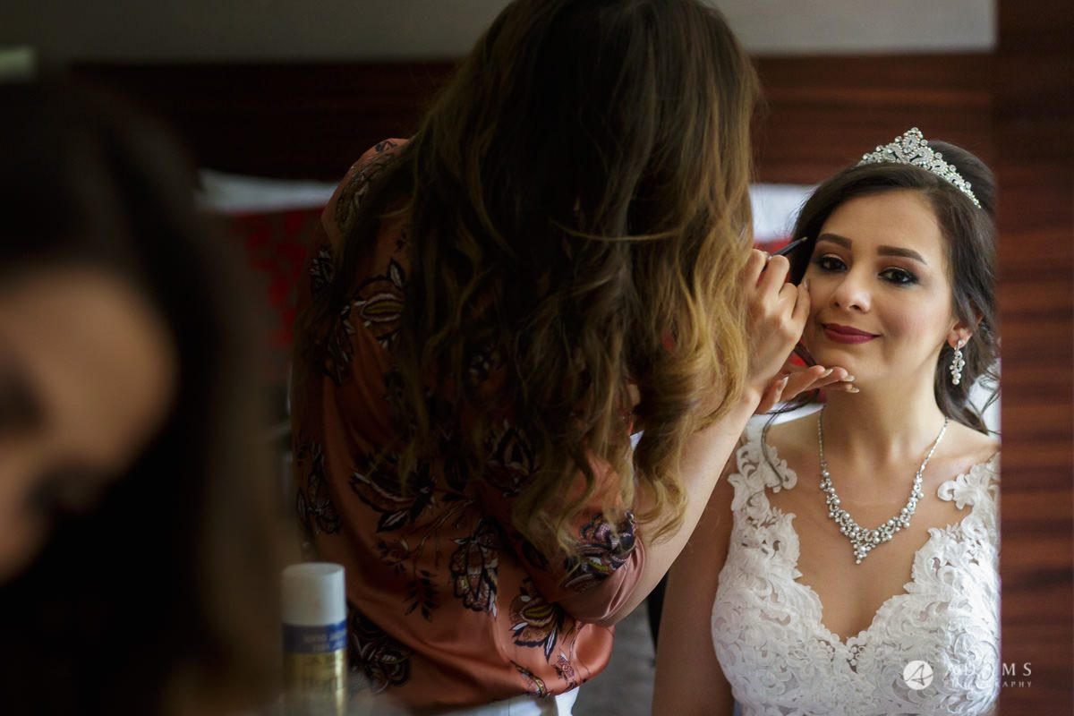 pinewood studios wedding final touches of the bridal makeup