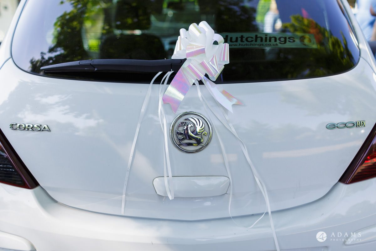 pinewood studios wedding photographer wedding car