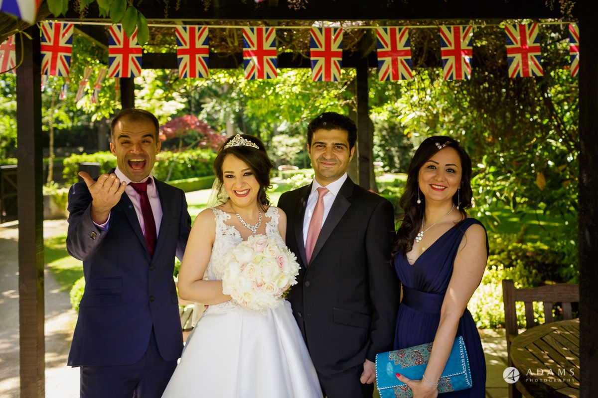pinewood studios wedding family portrait