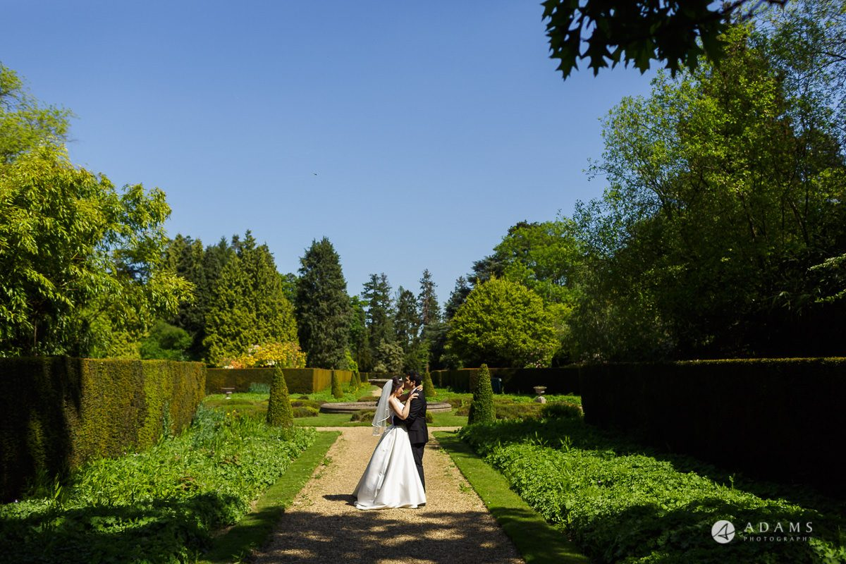 pinewood studios wedding bride and groom hug