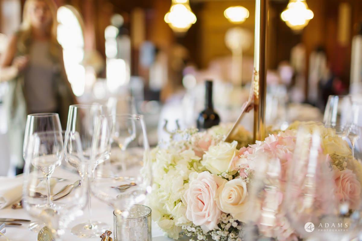 pinewood studios wedding table details