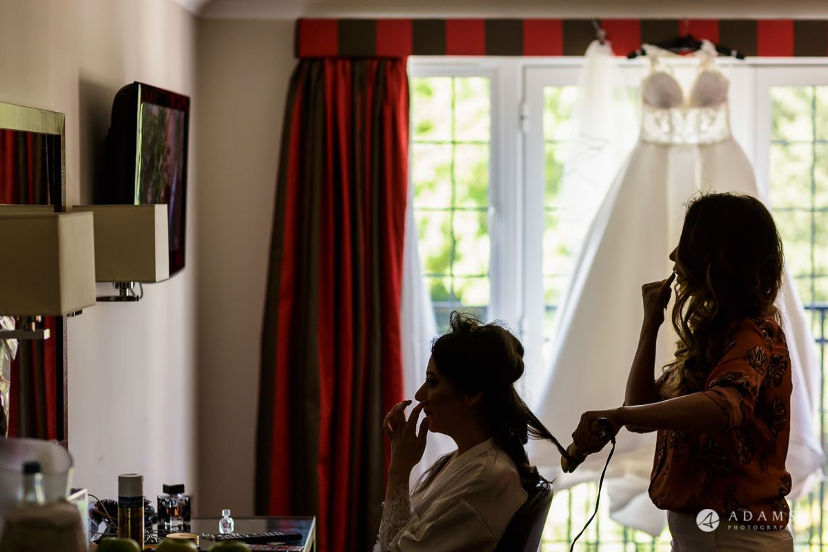 pinewood studios wedding bride getting ready