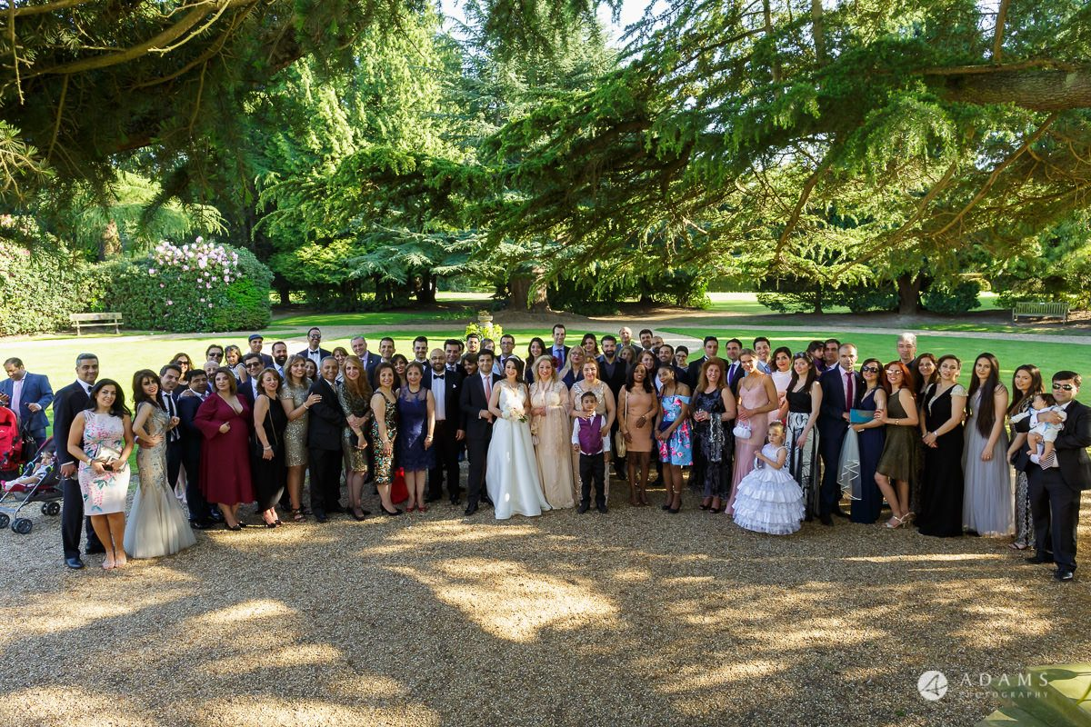 pinewood studios wedding group photo