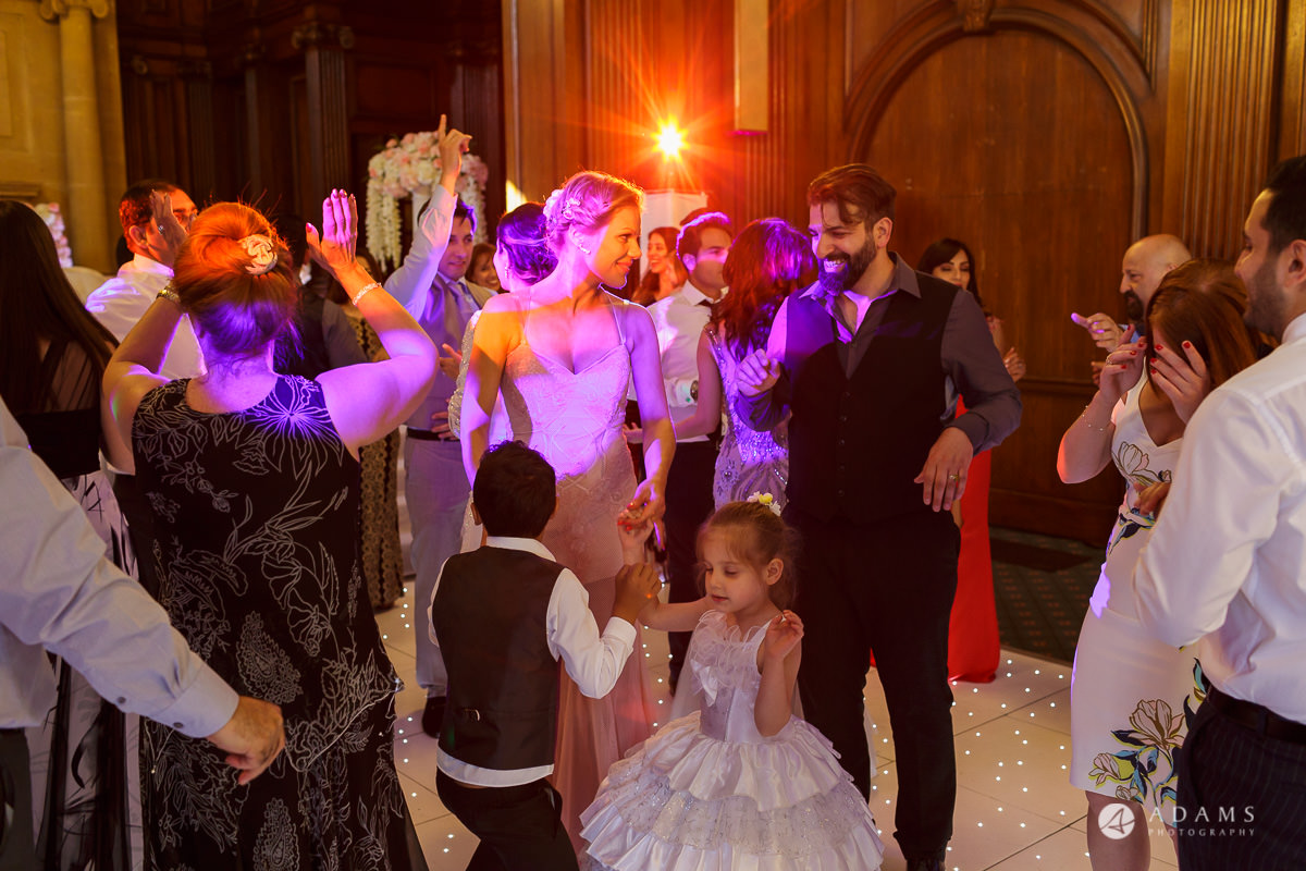 pinewood studios wedding kids dancing