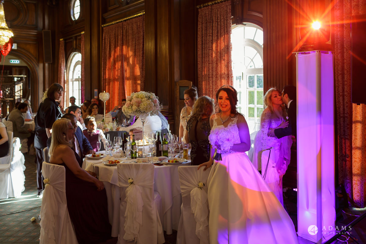 pinewood studios wedding bride by her mothers table