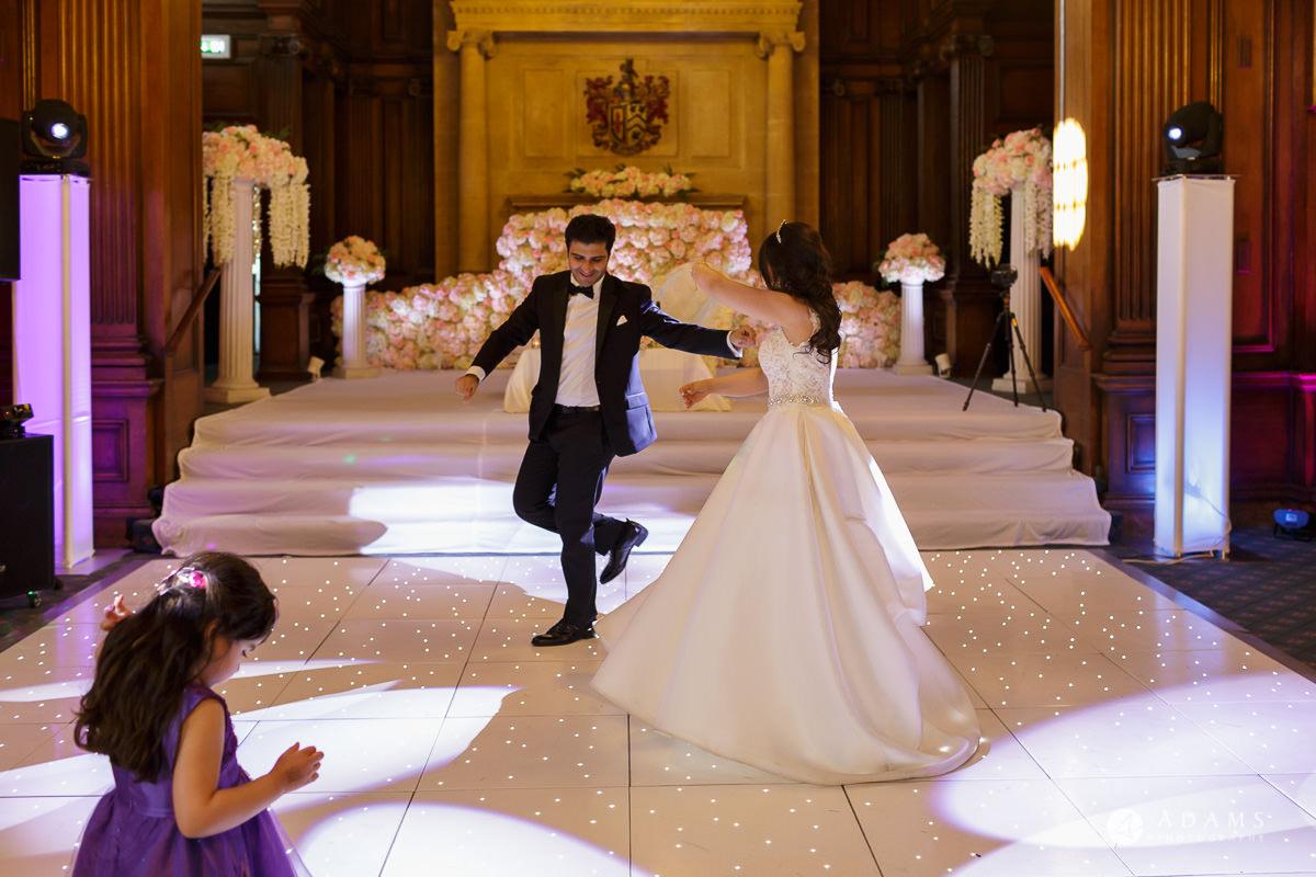 pinewood studios wedding photography Iranian dance groom