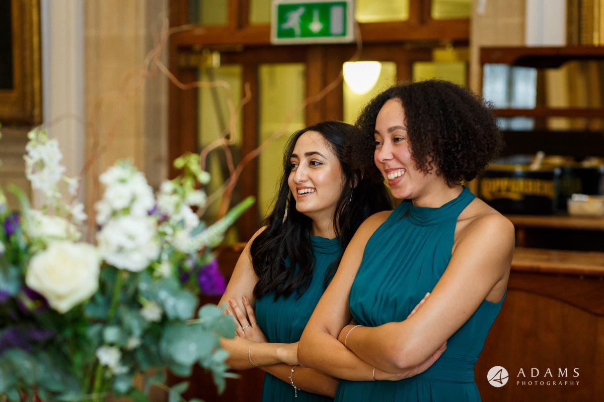 royal holloway wedding bridesmaids reaction