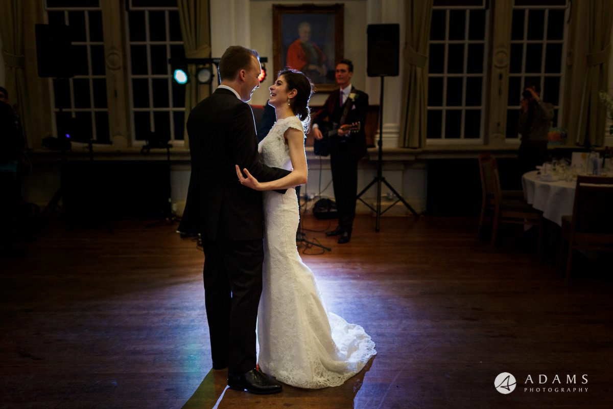 royal holloway wedding photography of first dance