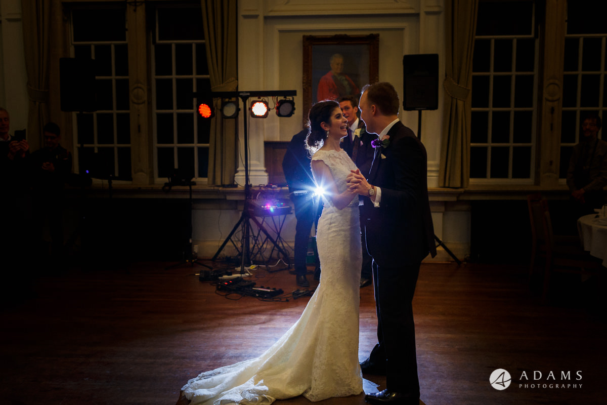 Royal Holloway wedding photography married couple dancing