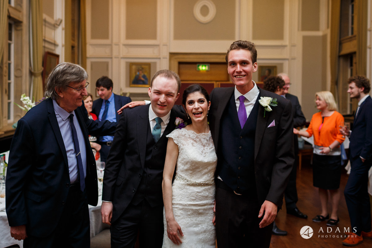 Royal Hollowaywedding photography married couple with bestmand