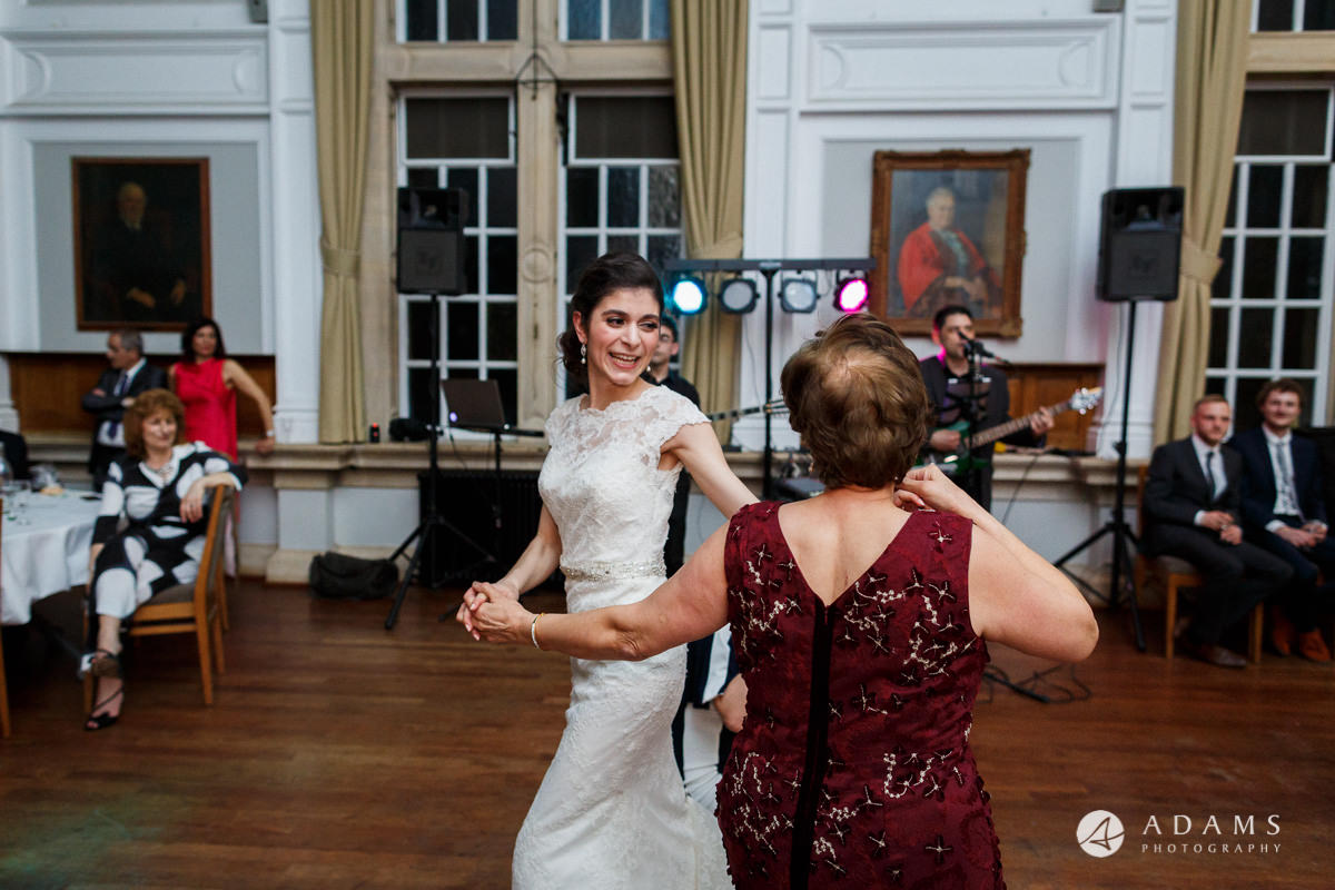 Royal Holloway wedding photography bride dance with her mum
