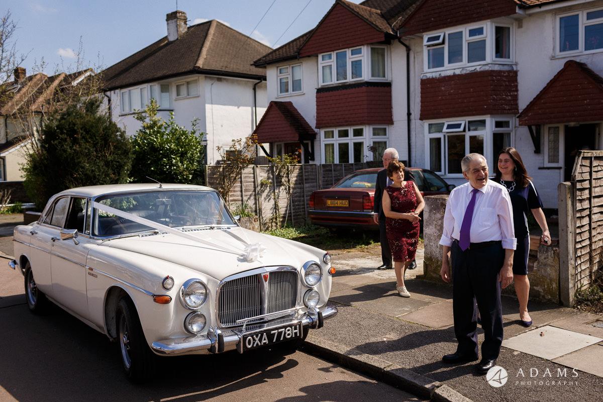 Royal Holloway Wedding car arrives