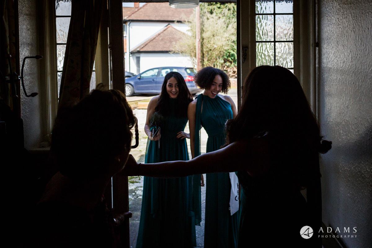 Royal Holloway Wedding guests arriving
