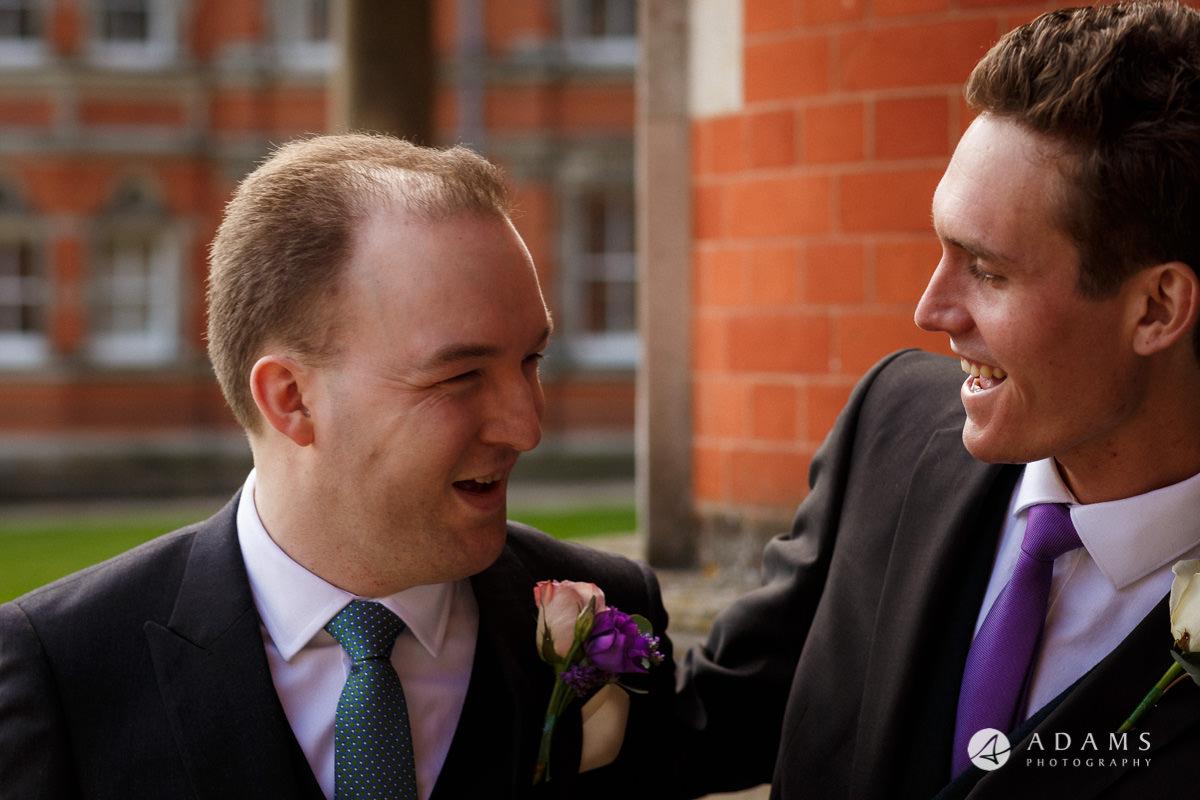 Royal Holloway Wedding groom welcomes the best man