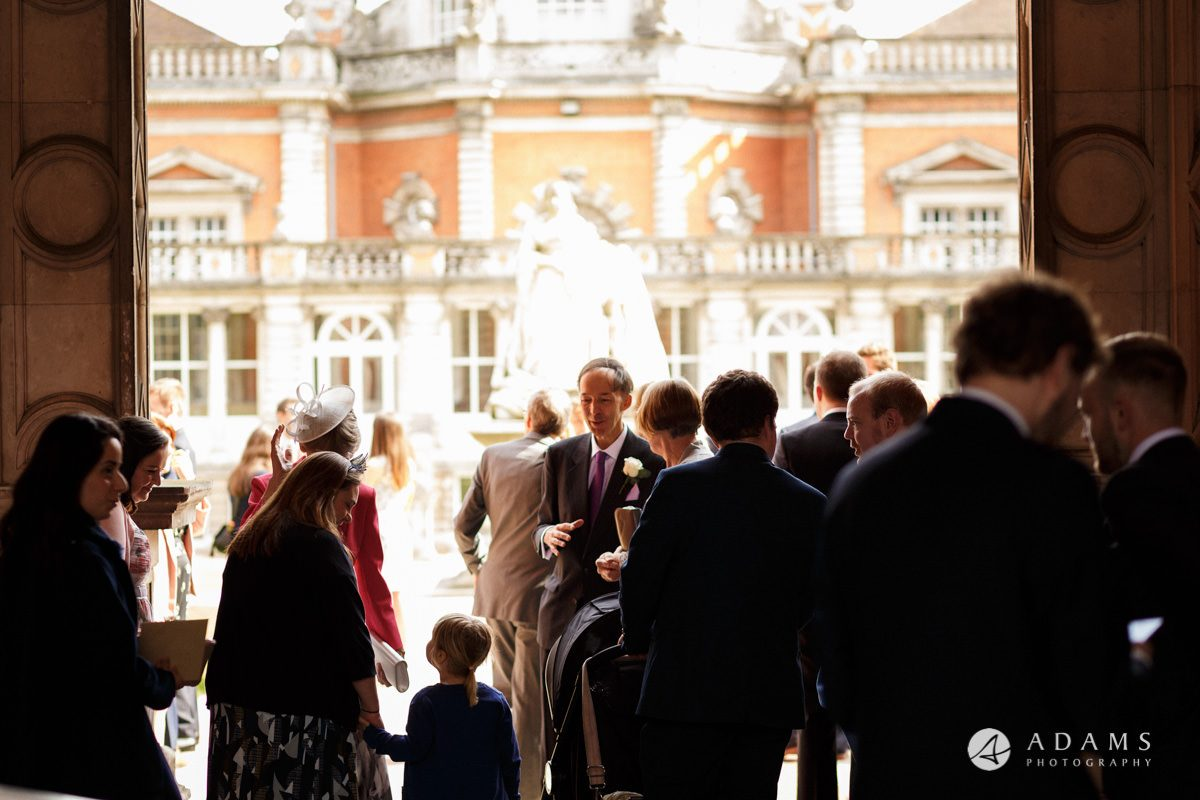 Royal Holloway Wedding guests arrival